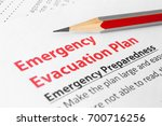 emergency evacuation plan | Shutterstock . vector #700716256