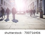 crowd of anonymous people... | Shutterstock . vector #700716406
