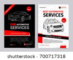set of automotive services... | Shutterstock .eps vector #700717318