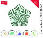 geometric oriental arabic... | Shutterstock .eps vector #700718266