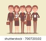 teamwork. business team led by... | Shutterstock .eps vector #700720102