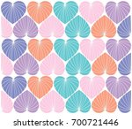 cute and colorful heart... | Shutterstock .eps vector #700721446