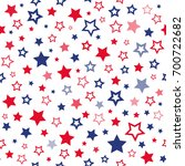 red and blue stars seamless... | Shutterstock . vector #700722682
