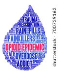 opioid epidemic word cloud on a ...   Shutterstock .eps vector #700729162