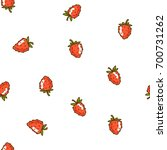 berries fruit strawberry with... | Shutterstock .eps vector #700731262