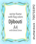 frame and border of ribbon with ...   Shutterstock .eps vector #700733392