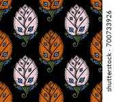 seamless pattern with hand... | Shutterstock .eps vector #700733926