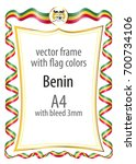 frame and border of ribbon with ...   Shutterstock .eps vector #700734106