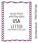 frame and border of ribbon with ...   Shutterstock .eps vector #700734766