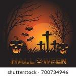 halloween background vector...   Shutterstock .eps vector #700734946