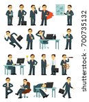 set of businessman characters... | Shutterstock .eps vector #700735132