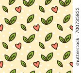 cute seamless pattern with... | Shutterstock .eps vector #700735822