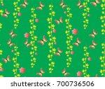 butterfly patterns seamless... | Shutterstock .eps vector #700736506