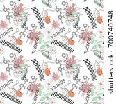 seamless children pattern with... | Shutterstock . vector #700740748