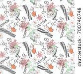 seamless children pattern with... | Shutterstock . vector #700740748