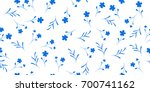 Stock vector delicate seamless little flowers floral pattern for fashion prints design for textile wallpapers 700741162