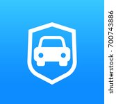 car security icon | Shutterstock .eps vector #700743886