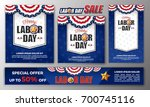 happy labor day banner... | Shutterstock .eps vector #700745116