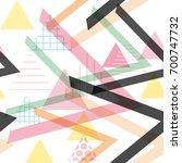 seamless pattern geometric... | Shutterstock .eps vector #700747732