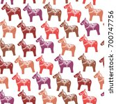seamless pattern red pink... | Shutterstock .eps vector #700747756