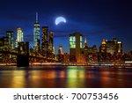 solar eclipse  new york ny new... | Shutterstock . vector #700753456