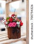 flower arrangement of multi...   Shutterstock . vector #700754326