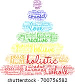 holistic word cloud on a white... | Shutterstock . vector #700756582