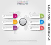business infographics  strategy ... | Shutterstock .eps vector #700764496