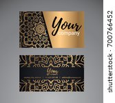 luxury business card golden... | Shutterstock .eps vector #700766452