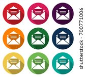 icon illustrations for mail... | Shutterstock .eps vector #700771006