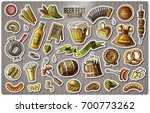 set of beer fest cartoon... | Shutterstock .eps vector #700773262