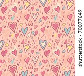 valentine seamless pattern with ... | Shutterstock .eps vector #70077649