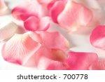 close up of artificial rose petals - stock photo