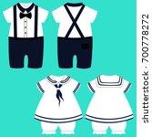 baby clothes. romper suit.... | Shutterstock . vector #700778272