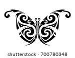 butterfly polynesian tattoo  | Shutterstock .eps vector #700780348