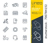 line editable stroke   media... | Shutterstock .eps vector #700784152
