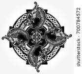 celtic concept tattoo and t... | Shutterstock .eps vector #700784572