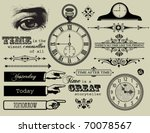 design elements   time... | Shutterstock .eps vector #70078567