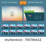 desk calendar 2018 vector | Shutterstock .eps vector #700786612