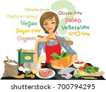 all these diet fads are so... | Shutterstock .eps vector #700794295