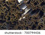 metal profile angle in packs at ... | Shutterstock . vector #700794436