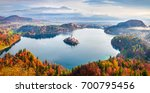 aerial view of church of... | Shutterstock . vector #700795456