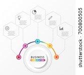 vector infographic template... | Shutterstock .eps vector #700800505