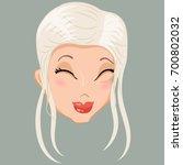 emoticon. blonde. delight. for... | Shutterstock .eps vector #700802032