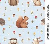 illustrations of cute animals.... | Shutterstock . vector #700806682