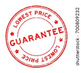 grunge red guarantee lowest... | Shutterstock .eps vector #700809232