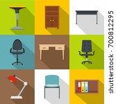 furniture icons set. flat set... | Shutterstock .eps vector #700812295