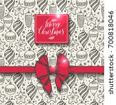 christmas seamless pattern with ... | Shutterstock .eps vector #700818046