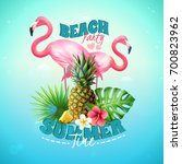 summer beach party background... | Shutterstock .eps vector #700823962