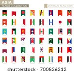 vertical flag icon of asia.... | Shutterstock .eps vector #700826212